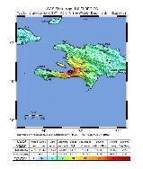 intensité du séisme du 12 janvier en Haïti